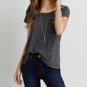 American Eagle Soft And Sexy Grey Scoop Neck Tee
